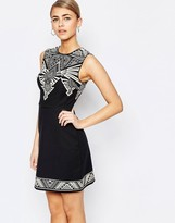 Oasis Tribal Placement Shift Dress