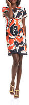 Trina Turk Museum Cotton-Silk Retro Floral Dress