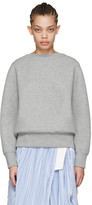 Sacai Grey Tie Back Pullover