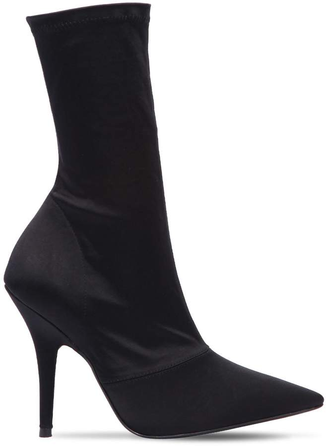 Yeezy 110mm Stretch Satin Sock Ankle Boots