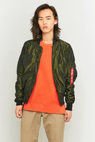 Alpha Industries Ma-1 Dark Green Lw Flight Jacket