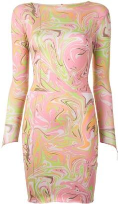 MAISIE WILEN Longsleeved Abstract-Print Dress