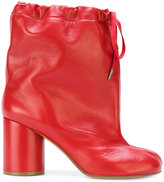 Maison Margiela Tabi drawstring ankle boots - women - Calf Leather/Leather - 36