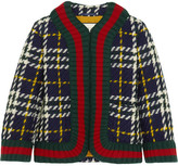 Gucci Cropped Plaid Wool Jacket - Emerald