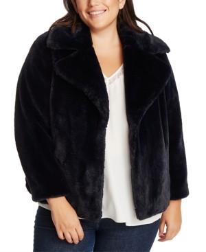 1 STATE Trendy Plus Size Faux-Fur Jacket