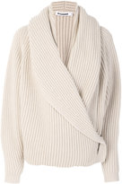 Jil Sander ribbed wrap cardigan - women - Cashmere/Wool - S