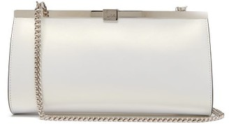 Christian Louboutin Palmette Satin Clutch - White