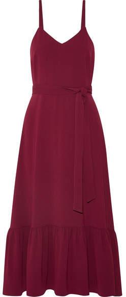 Co Crepe Midi Dress - Burgundy