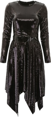 MICHAEL Michael Kors SEQUINED DRESS S Black