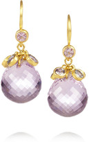 Marie Helene De Taillac Marie-Hélène de Taillac Crowned Berries 22-karat gold, amethyst and sapphire earrings