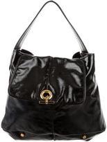 Saint Laurent Black Patent Leather Hobo