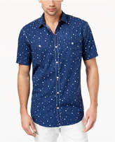 INC International Concepts I.N.C. Men's Speckle-Print Seersucker Shirt, Created for Macy's