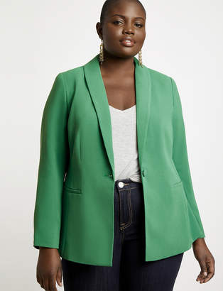 Shawl Collar One-Button Blazer