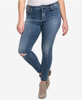 Silver Jeans Co. Plus Size Robson Ripped Jeggings