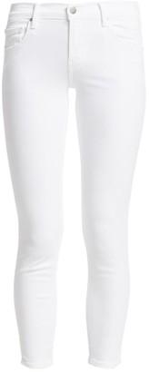 J Brand 835 Mid-Rise Sateen Crop Skinny Jeans