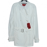 Burberry White Cotton Trench coat