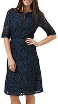 Sugarhill Boutique Rosemary A-Line Lace Dress, Navy/Black