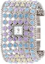 Peugeot Women's 7030SM Silver-Tone Swarovski Crystal Accented Bracelet Watch