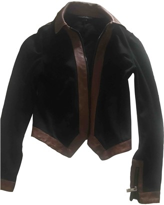 Jonathan Saunders Black Cotton Leather jackets