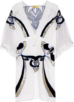 Emilio Pucci Embroidered cotton and silk-blend kaftan