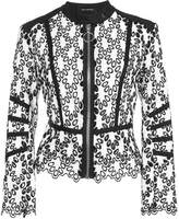 Yigal Azrouel eyelet detail moto jacket