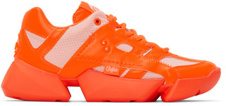 Junya Watanabe Orange Buffalo London Edition Synthetic Leather Sneakers