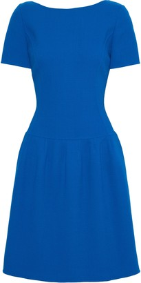 Oscar de la Renta Flared Wool-blend Crepe Dress