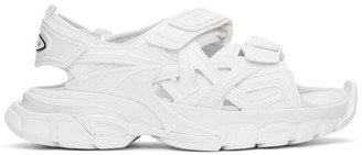 Balenciaga White Track Sandals