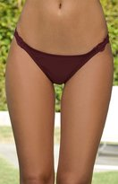 La Hearts Lace Trim Bikini Bottom