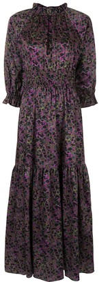 Cynthia Rowley Marbelle print smocked maxi dress