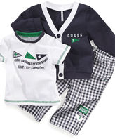 GUESS Set, Baby Boys Cardigan, Tee and Pants