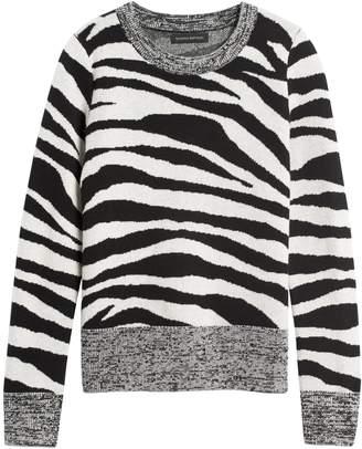 Banana Republic Zebra Print Wool-Blend Sweater