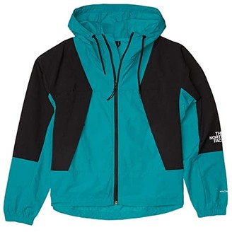 The North Face Peril Wind Jacket (Jaiden Green/TNF Black) Women's Clothing