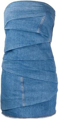 Philosophy di Lorenzo Serafini bandeau wrap style dress
