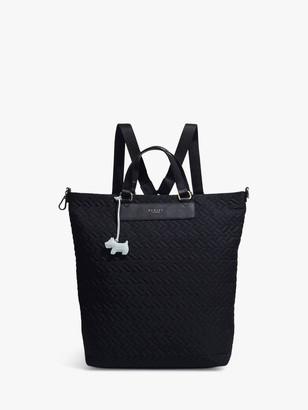 Radley Barge Walk Zip Top Backpack, Black