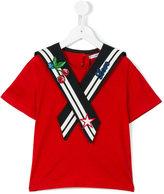 Dolce & Gabbana embroidered sailor top - kids - Cotton/Lurex/Nylon/Viscose - 4 yrs