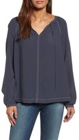 Nic+Zoe Women's Stitched Up Peasant Top