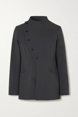Coperni Asymmetric Woven Jacket - Dark gray