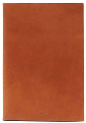 Jil Sander Logo-debossed Leather Document Holder - Mens - Brown