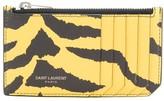 Saint Laurent Fragment zipped card holder