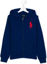 Ralph Lauren embroidered logo hoodie - kids - Cotton - 2 yrs