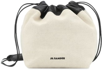 Jil Sander Sm Linen & Cotton Canvas Crossbody Bag