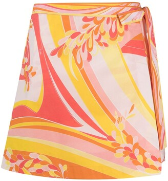 Emilio Pucci Abstract-Print Cover-Up Skirt