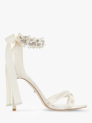 Dune Martine Embellished Ankle Strap Sandals, Ivory