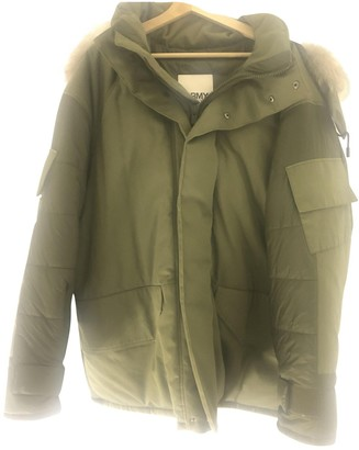 Yves Salomon Green Fur Coats