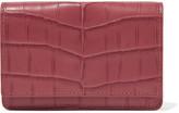 Bottega Veneta Crocodile Cardholder - Pink