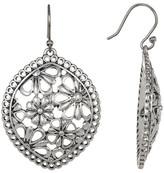 Lucky Brand Silver Tone Lace Openwork Earrings