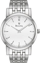 Bulova Mens Silver-Tone Dial Stainless Steel Watch