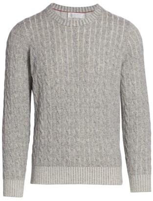 Brunello Cucinelli Vanise Cable Knit Cashmere Sweater