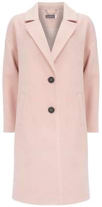 Mint Velvet Pastel Pink Boyfriend Coat